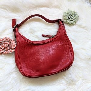 Coach red leather bag